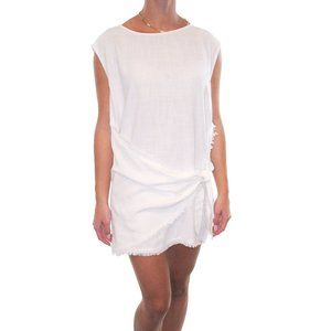 NWT ETIQUETTE Faux Wrap Fringe Mini Dress #AE13